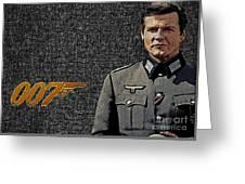 Sir Roger Moore Greeting Card