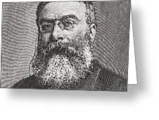 Sir Walter Besant, 1836 -1901. English Greeting Card