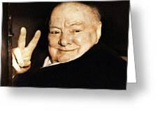 Sir Winston Churchill Victory Greeting Card
