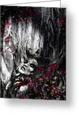 Siren Of The Crimson Forest  Greeting Card