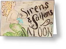 Siren Saloon Greeting Card