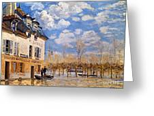 Sisley: Flood, 1876 Greeting Card