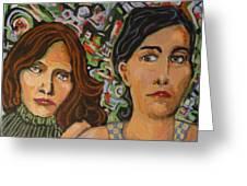 Sisters In Art Greeting Card