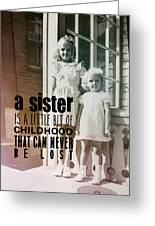 Sisters Quote Greeting Card