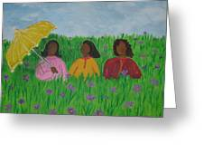 Sisters Talk Greeting Card