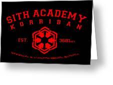 Sith Academy Greeting Card