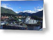 Sitka From The Waterfront Showing The Three Sisters In The Back 2015 Greeting Card