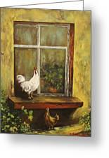 Sittin Chickens Greeting Card