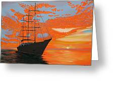Sittin' On The Bay Greeting Card