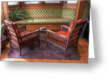 Sitting Area At Frank Lloyd Wright Home And Studio Greeting Card