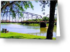 Sitting In Fort Benton Greeting Card