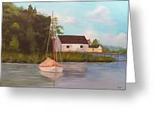 Sitting In Still Waters Greeting Card