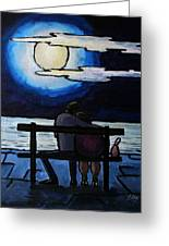 Sitting In The Moonlight. Greeting Card