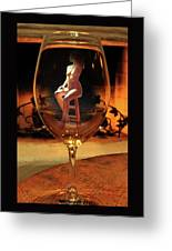 Sitting Nude In Glass Greeting Card