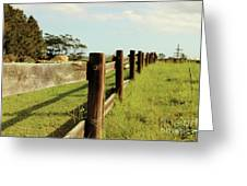Sitting On The Fence Greeting Card