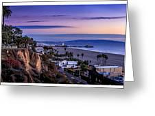 Sitting On The Fence - Santa Monica Pier Greeting Card