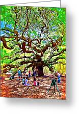 Sitting Under The Live Oaks Greeting Card