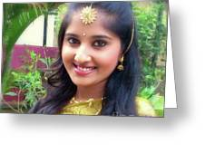 Siva's One And Only Baby Nisha Greeting Card