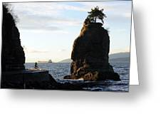 Siwash Rock Stanley Park IIi Greeting Card