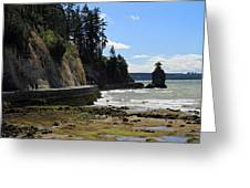 Siwash Rock Stanley Park Vancouver Greeting Card