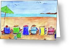 Six Beach Amigos Greeting Card
