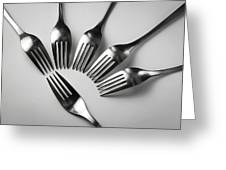 Six Forks Abstract Composition Greeting Card