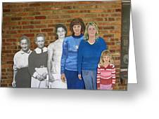 Six Generations Of Women Greeting Card