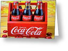 Six Pack Of Cokes Greeting Card