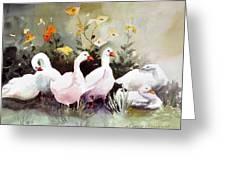 Six Quackers Greeting Card
