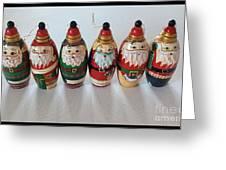 Six Russian Santas Greeting Card