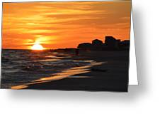 Sizzling Sunset Greeting Card