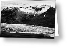 Skaftafell Glacier And End Lagoon With Icebergs Vatnajokull National Park In Iceland Greeting Card