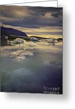 Skaftafellsjokull Lagoon Greeting Card