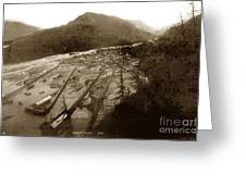 Skaguway, Alaska View From Hill Over Looking 1898 Greeting Card