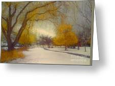 Skaha Path In Winter Greeting Card