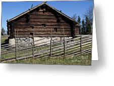 Skansen Cabin Greeting Card