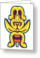 Skate Worrior Mask Greeting Card