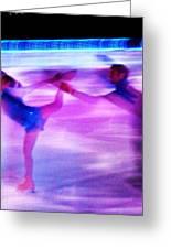 Skating Couple Abstract 2 Greeting Card