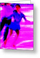 Skating Couple Abstract Greeting Card