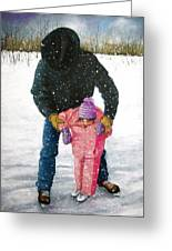 Skating Lessons At The Ranch Greeting Card by Joyce Geleynse