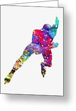 Skating Man-colorful Greeting Card