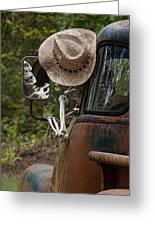 Skeleton Crew - Skeleton Driving A Vintage Truck Greeting Card