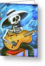 Skeleton Guitar Day Of The Dead  Greeting Card