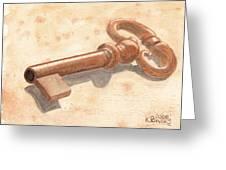 Skeleton Key Greeting Card