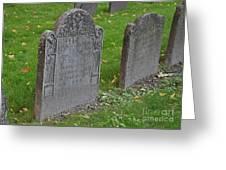 Skeleton Tombstone 1600s Greeting Card