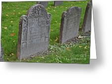 Skeleton Tombstone 1600s Greeting Card