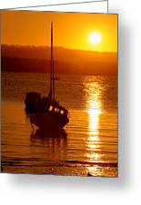 Skerries Harbour October Sunset  Greeting Card