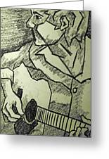 Sketch - Guitar Man Greeting Card
