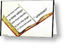 Sketch Of A Book With Quote Greeting Card