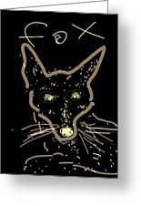 Sketch Of Fox By Kathy Barney Greeting Card